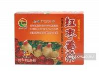 Напиток с китайским фиником и имбирем (Drink of jujube ginger tea)