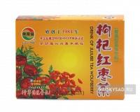 Напиток с китайским фиником и ягодой годжи (Drink of jujube tea wolfberry)