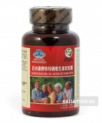 """Капсулы """"Железо, цинк, селен и витамины"""" (Iron, zinc, selenium and vitamin) Baihekang brand"""
